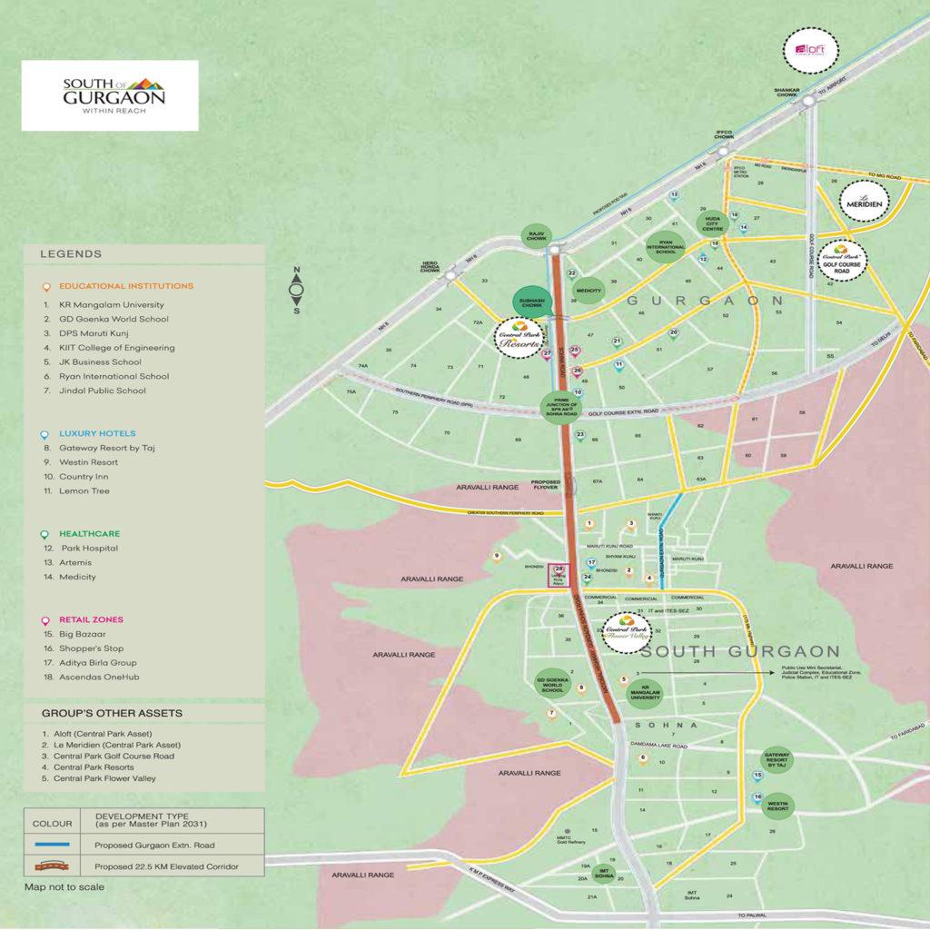 Central Park Flower Valley Clover Floors Location Map