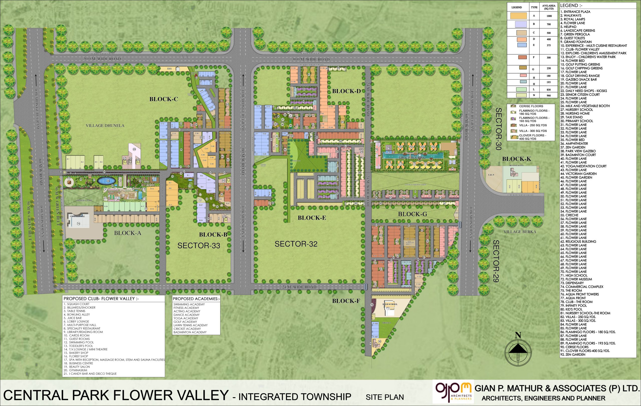 Central Park Flower Valley Clover Floors Site Plan