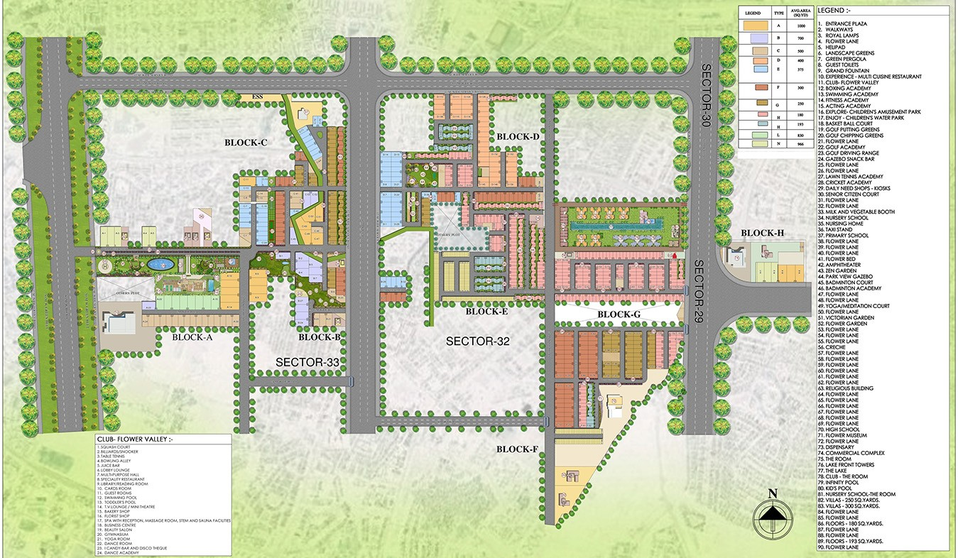 Central-Park-Flower-Valley-Fleur-Villas-Site-Plan